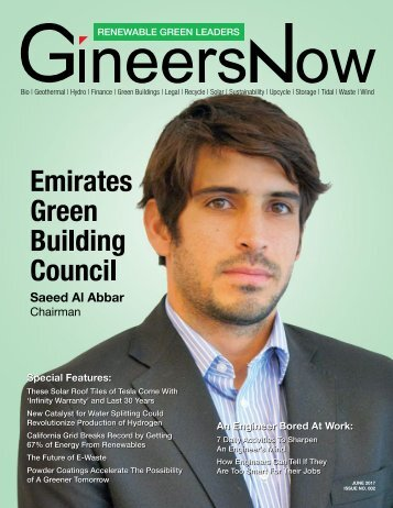 GineersNow Renewable Green Leaders Magazine Issue 002, Emirates Green Building Council