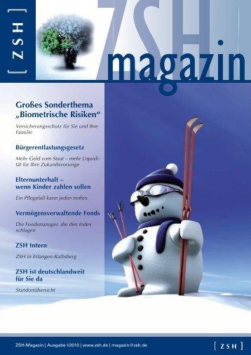 Biometrische Risiken - [ ZSH ] GmbH Finanzdienstleistungen