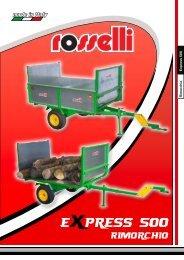 Rimorchio per giardinaggio Express 500 - Rosselli Snc