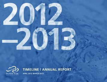 Pollution Probe Annual Report 2012-2013