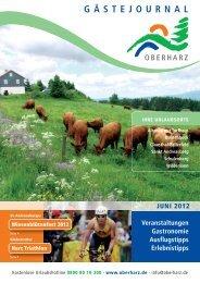 Gästejournal Juni 2012 (PDF) - Der Oberharz