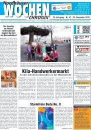 wochenchronik-Nordhausen 23. Jahrgang • Nr. 47 • 24. November
