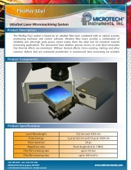 Ultrafast Laser Micromachining System