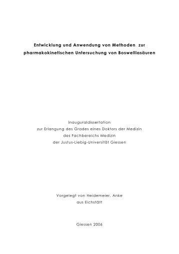 Entwicklung und Anwendung von Methoden - Justus-Liebig ...