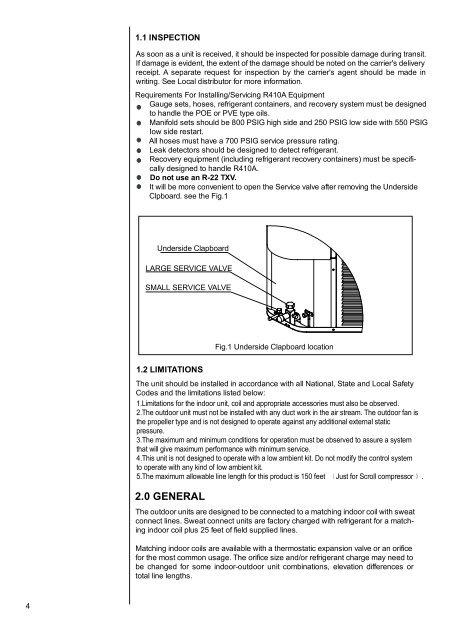 4 1.1 INSPECTION As soon Comfortstar Wiring Diagram on