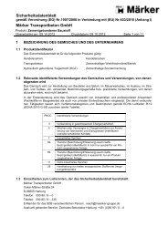 Sicherheitsdatenblatt Märker Transportbeton GmbH
