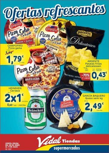 Folleto Vidal Tiendas Supermercados del 28 de Junio al 11 de Julio 2017