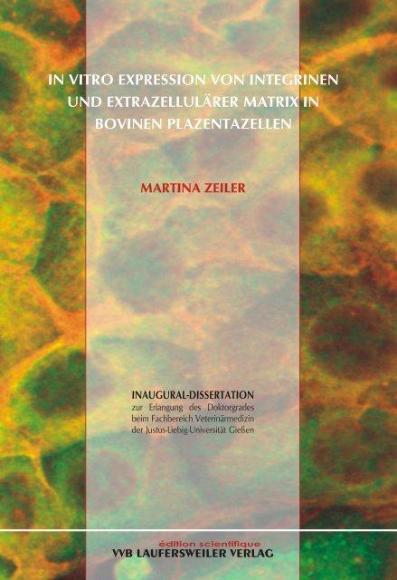 In vitro Expression von Integrinen und extrazellulärer Matrix in ...