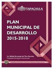 Plan Municipal de Desarrollo Tapachula 2015 - 2018