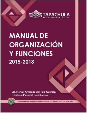Manual de Organización y Funciones 2015-2018