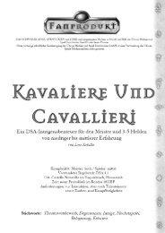 Kavaliere und Cavallieri - DSA-Hexenkessel