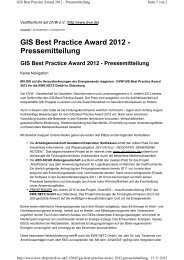 GIS Best Practice Award 2012 - Pressemitteilung - Zutra