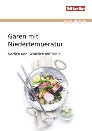 Miele Rezeptbuch - Garen mit Niedrigtemperatur