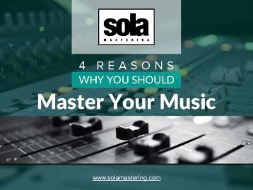How Beneficial is Audio Mastering