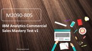 100% Valid M2090-805 IBM Analytics Commercial Sales Mastery Test v1 Practice Exam Questions