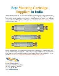 Best Metering Cartridge Suppliers in India
