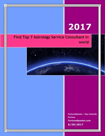 Find Top 7 Astrology Service Consultant in world
