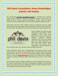 Phil Devin Consultants Antaa kiinteistöjen palvelu voit luottaa