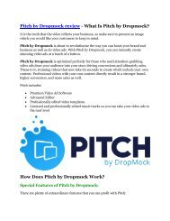 Pitch By Dropmock review demo & BIG bonuses pack