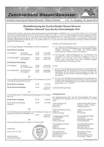 Zweckverband Wasser/Abwasser - OTWA