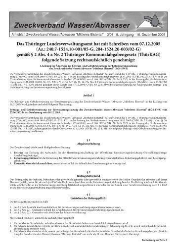 und Abwasserleitungen in Gera-Liebschwitz/Zwötzen durch ... - OTWA