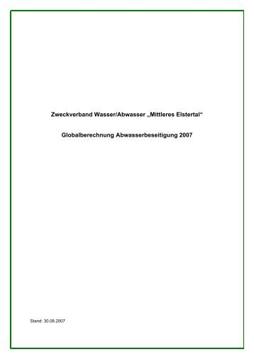 2. Erläuterungen zur Globalberechnung des ZVME - OTWA
