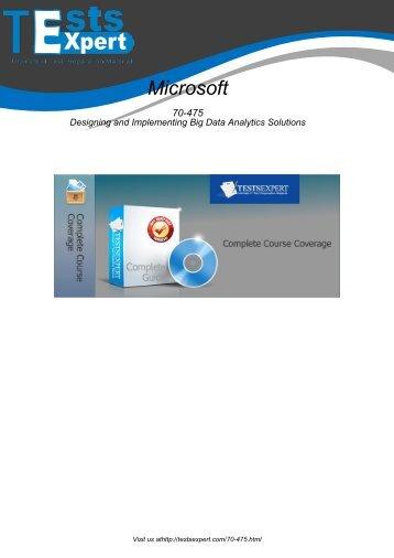 70-475 Exam Practice Software