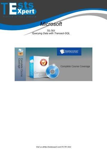 70-761 Exam Practice Software