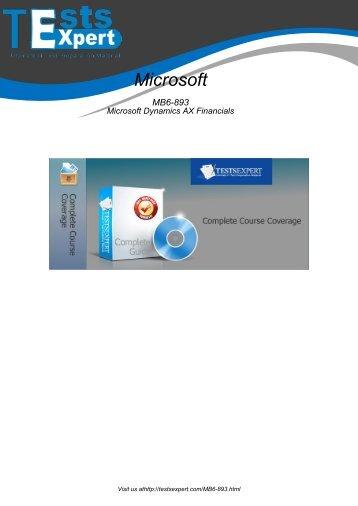 MB6-893 Exam Practice Software