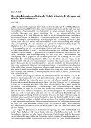 Migration, Integration und kulturelle Vielfalt ... - Klaus J. Bade