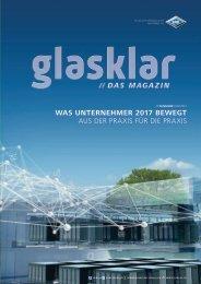 Glasklar - Kundenmagazin für Unternehmen