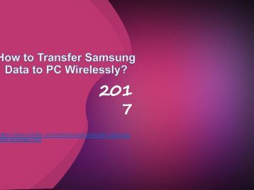 How to Transfer Samsung Data to PC Wirelessly?