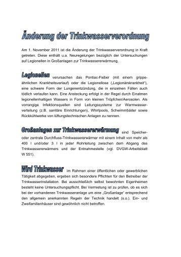 Anlage 1 zur BV/237/2011 – Änderungen der Abschreibungstabelle