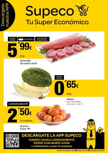 Folleto Supeco supermercados del 29 de Junio al 12 de Julio 2017
