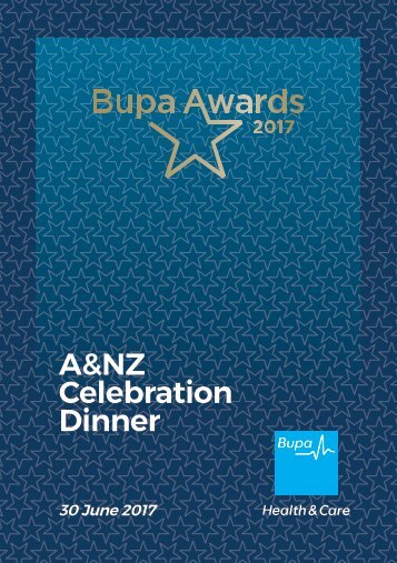 A&NZ Bupa Awards Nominees 2017