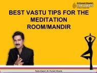 BEST VASTU TIPS FOR THE MEDITATION ROOMMANDIR