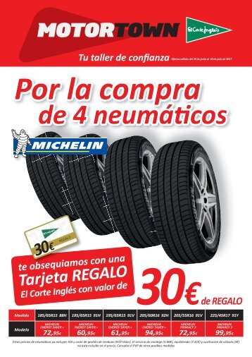 Folleto El Corte Inglés, MOTORTOWN hasta 30 de Julio 2017