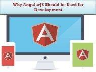 9 Reasons to Choose AngularJS for Web Development