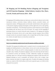 3D Mapping and 3D Modeling Market: Industry Insights, Outlook and Forecast upto 2020