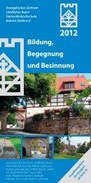 Bildung, Begegnung und Besinnung - Evangelisches Zentrum ...