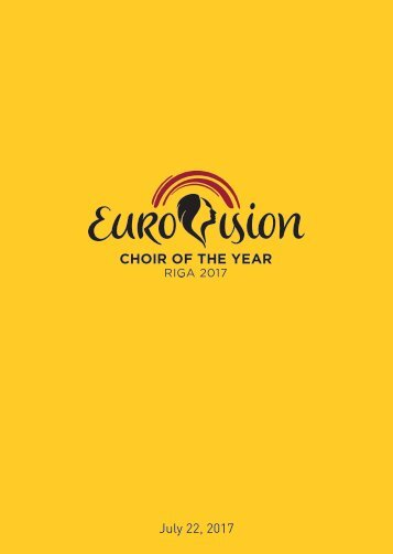 Brochure - Eurovision Choir of the Year - RIGA 2017