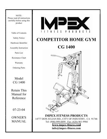 Mwm 980 Impex Fitness