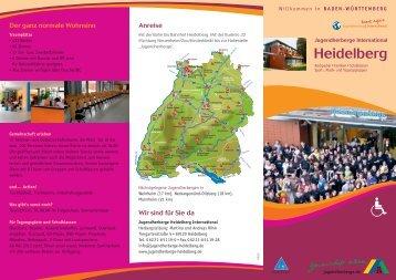 Bahn bis Bahnhof Heidelberg - Jugendherberge Heidelberg ...