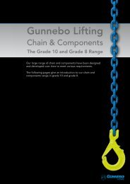 Chain & Components, Grade 10 and grade 8 - Gunnebo Industries