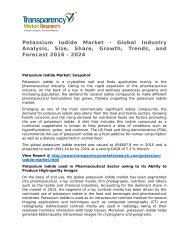 Potassium Iodide Market - Global Industry Analysis, Size, Share, Growth, Trends, and Forecast 2016 - 2024