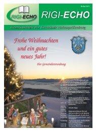 Frohe Weihnachten und ein gutes neues Jahr! - Hohenpeißenberg