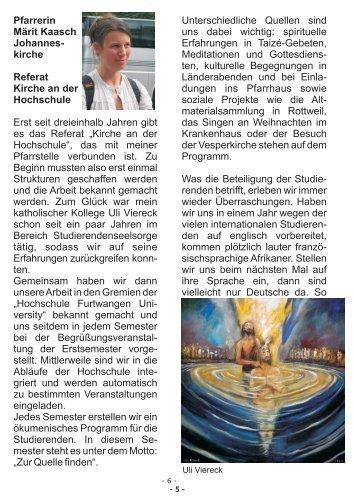 Pfarrerin Märit Kaasch Johannes- kirche Referat Kirche an der ...