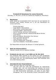 Protokoll GV Gemeinsam für unsere Gemeinde Dienstag, 24. Mai ...
