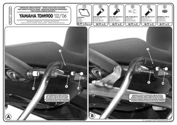 yamaha tdm900 - Givi
