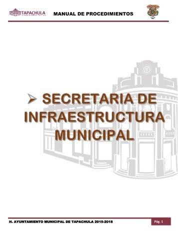 SECRETARIA DE INFRAESTRUCTURA MUNICIPAL